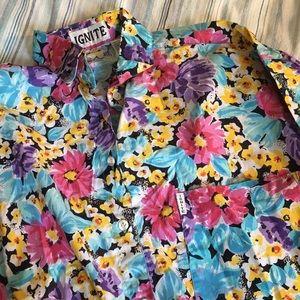 BUNDLE ONLY bright floral vintage oversized blouse